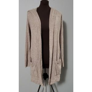 Barefoot dreams hooded cardigan size M.